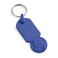 Брелок пластик монета 0,50 евро
