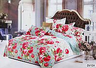 Комплект постельного белья Florida 5D Sateen DV-124 Евро размер оптом и в розницу