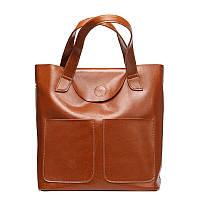 Кожаная сумка женская два кармана GS202