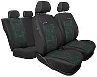 """Чехол Q-line """"A"""" черные с зелеными вставками (подходят для сидений с Air Bag), фото 1"""