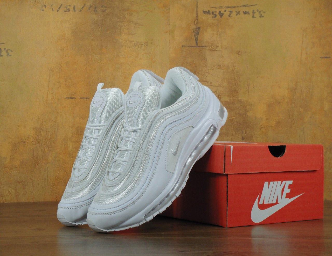 Кроссовки мужские Nike Air Max 97 White топ реплика