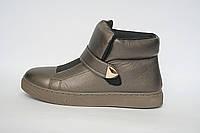 Ботинки женские бронзовые
