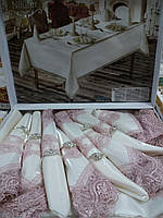 Скатерть с салфетками 8шт бамбук, фото 1