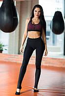 Спортивный комплект Yoga Total Black Paris Bra