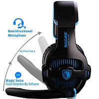 Игровые наушники Sades SA810 с микрофоном Black