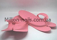 Тапочки одноразовые вьетнамки для педикюра/солярия (пенелон 2,5 мм, цветные)12 пар в упаковке