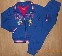 Спортивные  трикотажные костюмы-тройки для девочек, 128, 134