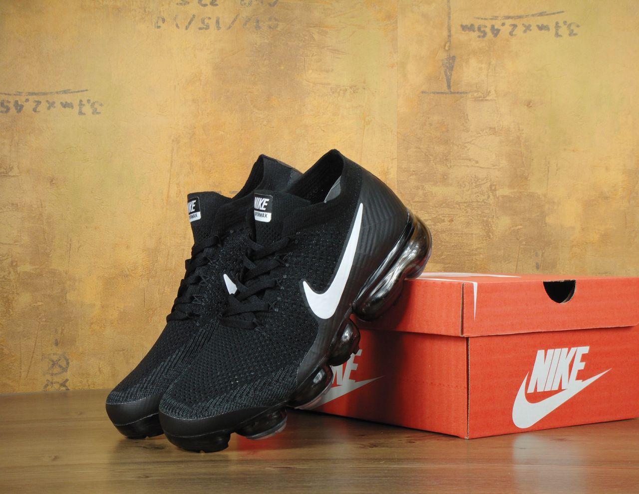 Мужские кроссовки Nike Vapor Max черные топ реплика
