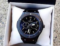 Оригинальный кварцевые мужские часы Hublot. Хорошее качество. Доступная цена. Дешево. Код: КГ1937