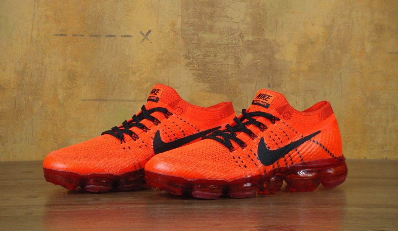Мужские кроссовки Nike Vapor Max оранжевые топ реплика