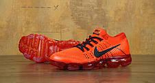 Мужские кроссовки Nike Vapor Max оранжевые топ реплика, фото 2