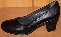 Женские туфли на среднем каблуке, кожаные женские туфли от производителя модель Д - 30МК