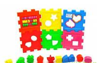 Логический куб-сортер, со счетами, арт. KW-50-201