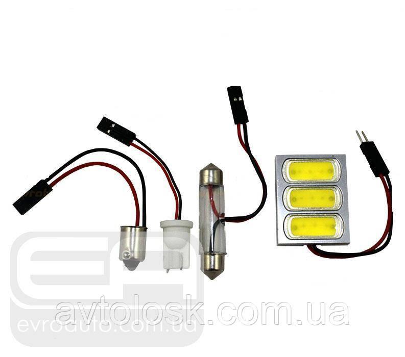 Світлодіодна панель сверхъяркая SVS 4,5 W T10/BA9S 41mm