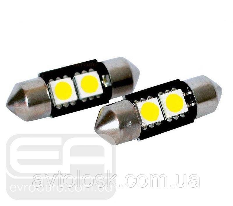 Софитная світлодіодна лампа SVS T10-31 2SMD 31 мм