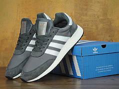 Мужские кроссовки Adidas Iniki серые топ реплика