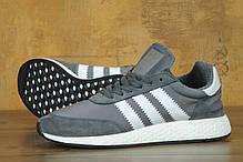 Мужские кроссовки Adidas Iniki серые топ реплика, фото 2