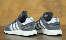 Мужские кроссовки Adidas Iniki серые топ реплика, фото 3