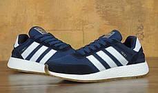 Мужские кроссовки Adidas Iniki Runer Boost Navy топ реплика, фото 2
