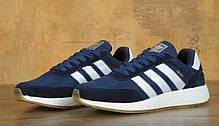 Мужские кроссовки Adidas Iniki Runer Boost Navy топ реплика, фото 3
