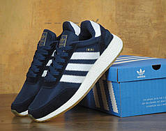 Мужские кроссовки Adidas Iniki Runer Boost Navy топ реплика