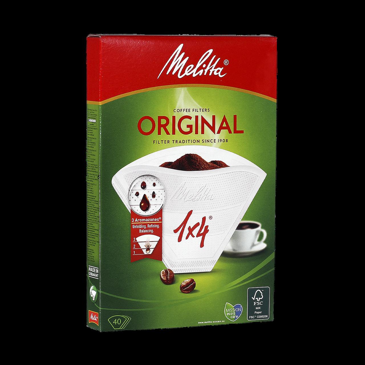 Фильтр-пакеты для кофе Melitta №4, 40шт/упак - ПЕТРОВКА HoReCa в Киеве