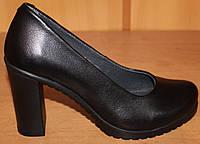 Женские туфли стильные на высоком каблуке, кожаные женские туфли от производителя модель Д - 31БК