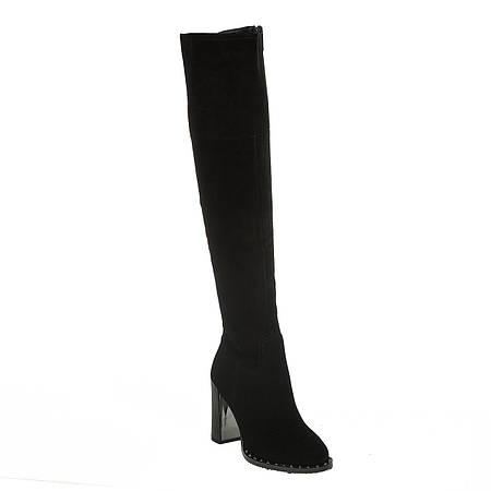 Ботфорты женские Brocoly (замшевые, на высоком каблуке, стильные, изысканные)