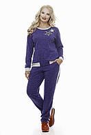 Спортивный костюм большого размера VK1 фиолетовый