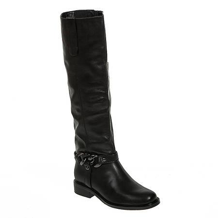 Сапоги женские Reuchll (кожаные, черные, практические, качественные)