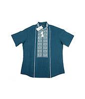 Синя вишита сорочка. Чоловіча вишиванка. Святкова чоловіча вишиванка. Интернет  магазин вишиванок. 1f4df36af2b7f