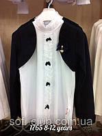 Детская одежда оптом Блуза-обманка школьная для девочек Orko Kids оптом р.8-12лет