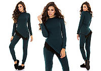 Женский костюм туника с сеткой+брюки