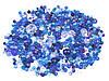 Набор граненных бусин - синий 50 гр.