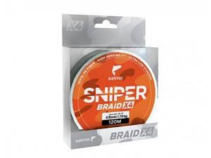 Шнур плетений Salmo Sniper Braid 4Х ARMY Green 120m 0,165mm (4926-016)
