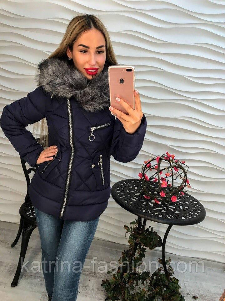 Женская куртка c мехом (фабричный Китай) (3 цвета)  продажа, цена в ... 3e8699dccda