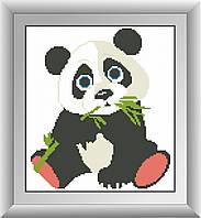 Картина из мозаики Dream Art Панда (квадратные камни, полная зашивка) (DA-30003) 26 х 29 см