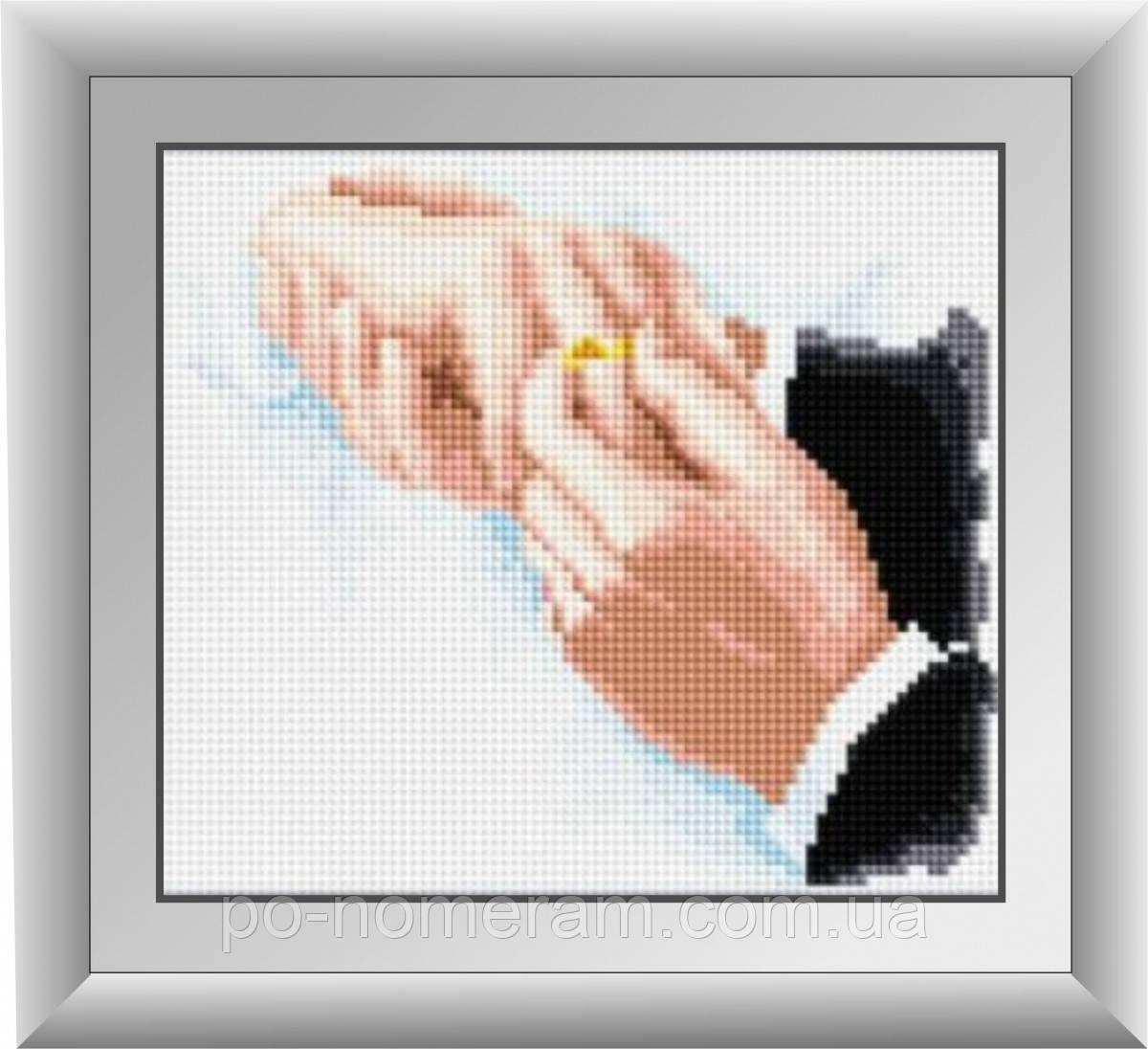 Алмазная вышивка Dream Art Момент счастья (квадратные камни, полная зашивка) (DA-30292) 20 х 21 см (Без подрамника)