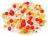 Бусины чешские граненные - желто оранжевый 50 гр.