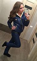 Женский лыжный теплый костюм