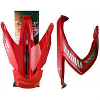 Крепёж фляги М-образный, пластик, красный