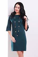 Модное платье из французского трикотажа, свободного кроя с воланами на рукавах Разные цвета