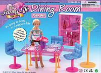 """Мебель """"Gloria"""" 2912 (36шт/3) для гостинной,стол,4 стула,сервант,посуда,торшер"""