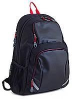Рюкзак 1 вересня YES T-31 Rudy 554098 черный подростковый два отдела 32х48х12см