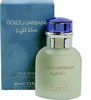 Мужская оригинальная туалетная вода Light Blue pour Homme Dolce&Gabbana, 40ml NNR ORGIN /0-72