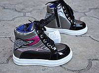Демисезонные ботинки кроссовки высоки , сникерсы для девочки 21,22,23