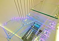 Лестница по индивидуальному заказу.триплекс для стеклянной лестницы.лестница из безопасного стекла.