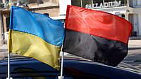 Флаг красно-черный, автофлаг, фото 1