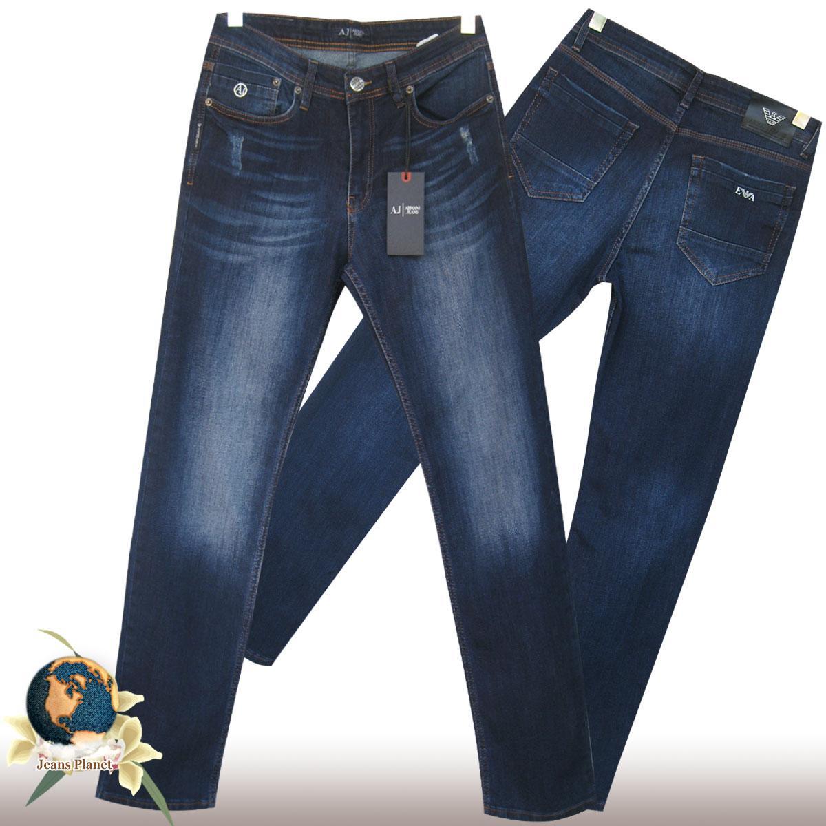 Стильные мужские классические джинсы Philipp Plein тёмно-синего цвета 32 размер