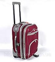 Бардовый чемодан дорожный на колесах фирмы CCS